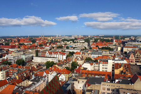 elisabeth: Skyline on Wroclaw View from St. Elisabeth Church spire.