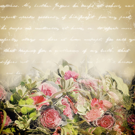 goodly: Autumn flowers in retro style