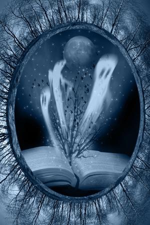 ocas: libro con historias de Halloween Foto de archivo
