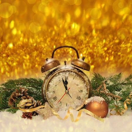 nouvelle horloge de l'ann�e avant minuit