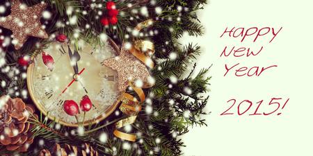 oldened: new year clock before midnight