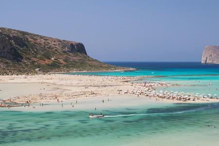 The beautiful Balos beach on Crete island