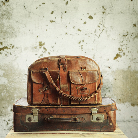 old suitcase: old suitcase in retro style Stock Photo