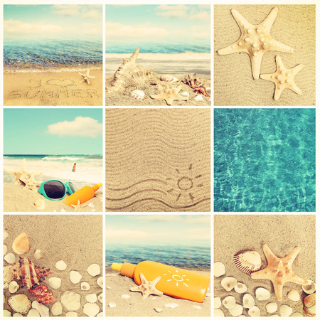 Vacation collage Stock Photo