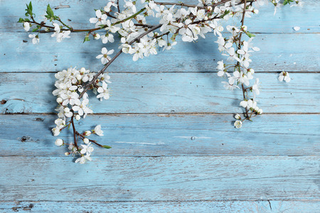 background summer: flowers on wooden background