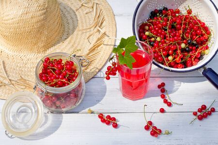 currants: fresh juice with fruits currants