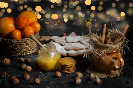 galletas de jengibre: galletas de jengibre con ingredientes