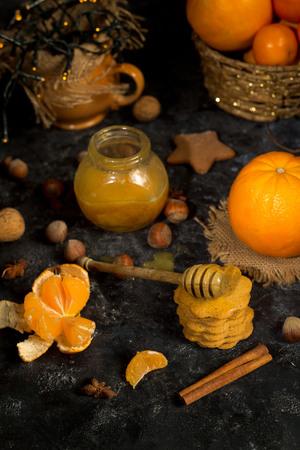 galletas de jengibre: Ginger cookies with ingredients