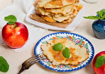 homemade tasty Apple fritters