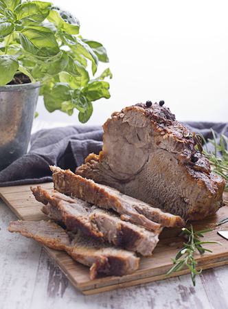 Roasted pork with herbs