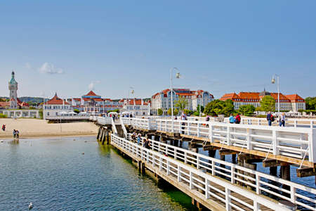 SOPOT, POLAND - 09.13.2020: View from the Pier on Beautiful architecture of Sopot