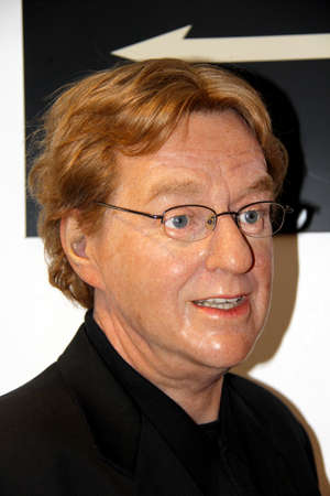 London, - United Kingdom, 08, July 2014. Madame Tussauds in London.  Waxwork statue of Jerry Springer. Created by Madam Tussauds in 1884, Madam Tussauds is a waxwork museum and tourist attraction 新闻类图片