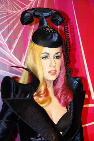 London, - United Kingdom, 08, July 2014. Madame Tussauds in London.  Waxwork statue of Lady Gaga. Created by Madam Tussauds in 1884, Madam Tussauds is a waxwork museum and tourist attraction