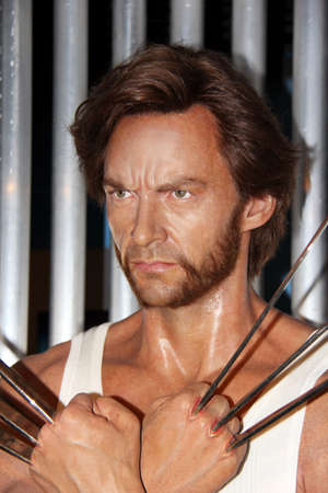 London, - United Kingdom, 08, July 2014. Madame Tussauds in London.  Waxwork statue of Wolverine, Created by Madam Tussauds in 1884, Madam Tussauds is a waxwork museum and tourist attraction. 新闻类图片
