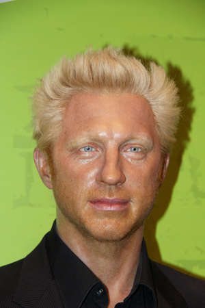 London, - United Kingdom, 08, July 2014. Madame Tussauds in London.  Waxwork statue of  Boris Becker. Created by Madam Tussauds in 1884, Madam Tussauds is a waxwork museum and tourist attraction 新闻类图片