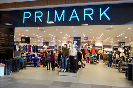 Portimao, Algarve, Portugal. 12th October 2014. Primark is an  Irish affordable clothing store situated in Portimao Aqua shopping center. Picture taken 12th of October 2013