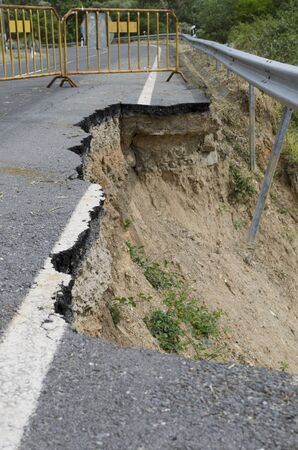 Road Collapse due to erosion