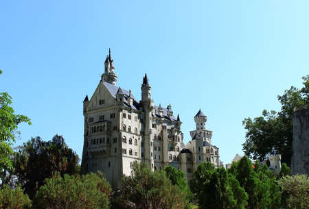 Pattaya City, Chonburi Province, Thailand - Mart 17, 2018: Replica landmark of Germany Neuschwanstein castle in Mini Siam miniature park