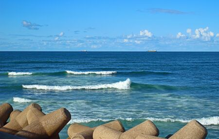 Seascape of the Atlantic Ocean in Casablanca, Morocco