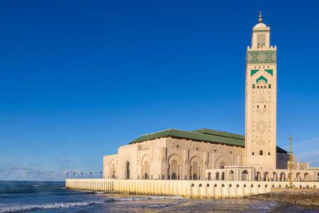Casablanca, Morocco - 21 October, 2019: Hassan II Mosque in Casablanca, Morocco. 新聞圖片