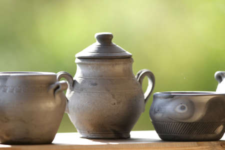 Handmade, traditional black pottery. Lithuania, Merkine
