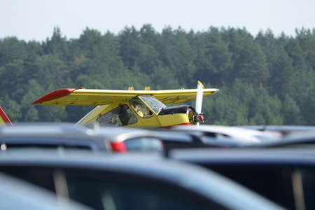 The plane wilga 35a, at Pociunu airport, Lithuania