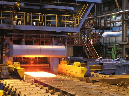 Cold rolling department in ferrous metallurgy factory with hardware. Stock Photo - 4768627