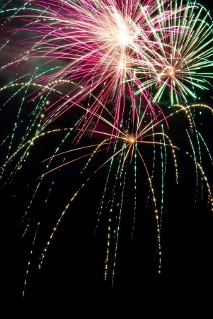 Some holiday fireworks on the night sky Stock Photo - 4843986
