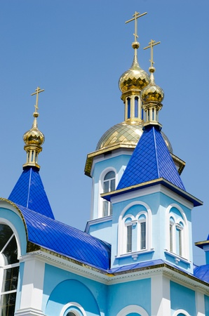 luhansk: The domes of the temple of the Holy Martyr Tatiana of Luhansk National University. Taras Shevchenko. Editorial