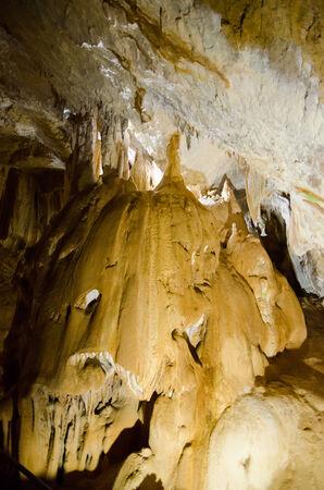 stalagmite: Stalagmite  Marble Cave  Karst cave in the Crimea  Massif Chatyrdag-Yayla  Vicinity of Alushta  Near the village Privolnoe