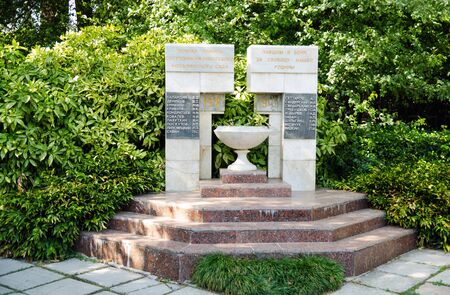 botanical gardens: Monument to the workers of the Nikitsky Botanical Gardens, died during the Second World War. Editorial