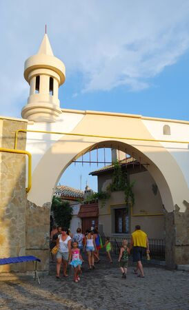 holidaymaker: Arch in the historical part of Evpatoria, on the street Karaimskaya. Crimea. Editorial
