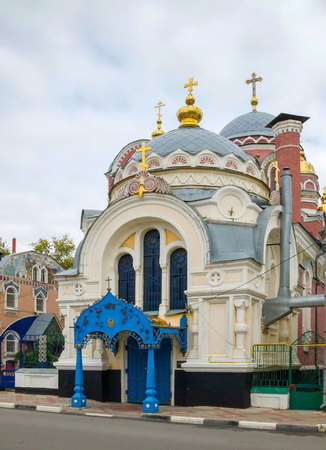 Church of St. Prince Michael of Tver and Alexander Nevsky (Velikoknyazheskaya church). The most luxurious and unusual of religious buildings in Yelets. The church was built almost for 1 year on the funds of merchant Zausaylov, consecrated in 1911, is part