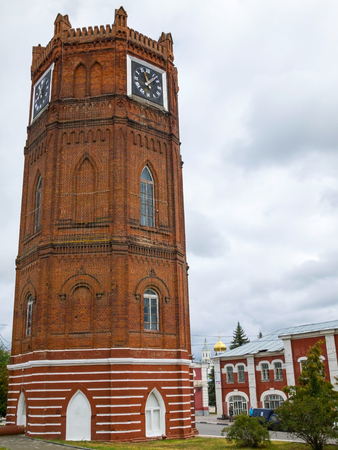 chimes: Yelets chimes are. One of the symbols of the city. The water tower was built in 1868, the chimes are on it appeared in 1974. Yelets, Lipetsk region, Russia.