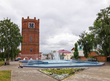 chimes: Elets chimes are. One of the symbols of the city. The water tower was built in 1868, the chimes are on it appeared in 1974. Yelets, Lipetsk region, Russia. Editorial