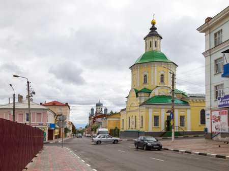 consecrated: Preobrazhenskaya (Transfiguration) Church. Built and consecrated church in 1771, reconstructed several times. Located at the intersection of Leo Tolstoy St. and the October St. Yelets, Lipetsk region, Russia. Editorial