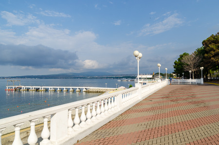 Gelendzhik embankment, Lermontov Boulevard. Gelendzhik, Krasnodar Krai, Russia.