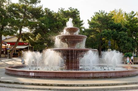 krasnodar: Light and music fountain on the promenade. Gelendzhik, Krasnodar Krai, Russia.