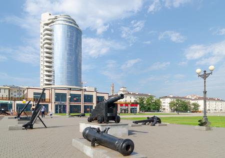 founders: Novorossiysk, Krasnodar Krai, Russia - August 28, 2016. A fragment of the monument to the founders of Novorossiysk.