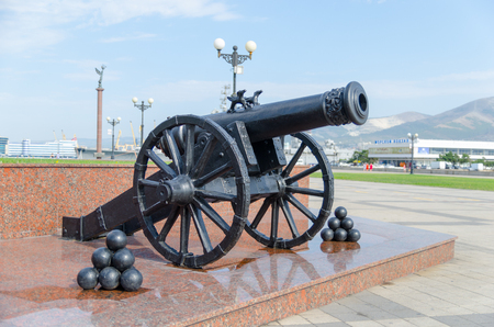 founders: A fragment of the monument to the founders of Novorossiysk. Novorossiysk, Krasnodar Krai, Russia - August 28, 2016.