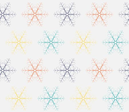 Winter seamless pattern with snowflakes. Christmas background. Vector.
