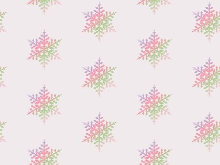 Winter seamless gradient pattern with snowflakes on pink. Christmas background. Vector. 일러스트