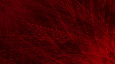 Abstract red geometric background with unusual rays. 16: 9 Aspect Ratio. Design layout for video backdrop, poster, web, card, booklet or others. Vector illustration.