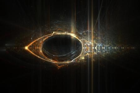 horus: Ojo de Horus diseño de la llama de fondo abstracto fractal