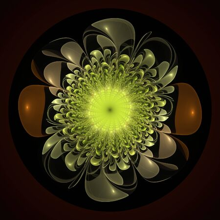 Electric flower abstract flame fractal background design photo