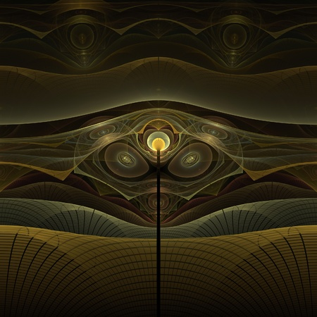 warped: Alien construct abstract fractal design for backgrounds and wallpapers