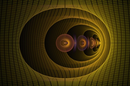 warped: Warped corridor abstract fractal design for backgrounds and wallpapers