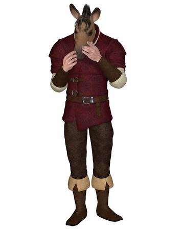 burro: Nick Bottom el personaje de Weaver, de Shakespeare Sue�o de una noche s de San Juan s con la cabeza transform� en la cabeza de un burro, 3d rindi� la ilustraci�n digital Editorial