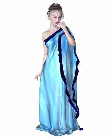 afrodita: Afrodita, la diosa griega del amor, conocido por los romanos como Venus, 3d digital rindi� la ilustraci�n Foto de archivo