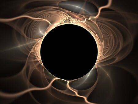Black hole abstract fractal design for backgrounds and wallpapers Stock Photo - 14993362